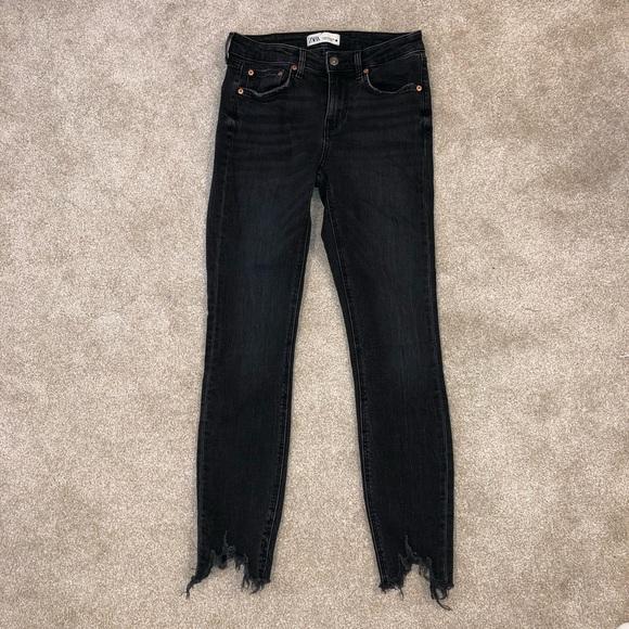 Zara High-Waisted Black Skinny Jeans